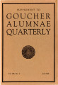 Goucher Alumnae Quarterly (V. 007, no. 4) July 1929 Supplement