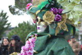 A Woman Dressed in an Intricate Costume for Carnevale in Venice
